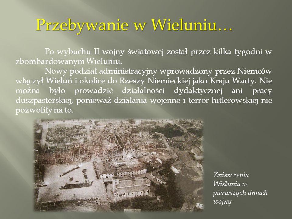 Po aresztowaniu księdza Wincentego Śliwińskiego w Konopnicy stanowisko proboszcza przejął Binkiewicz.