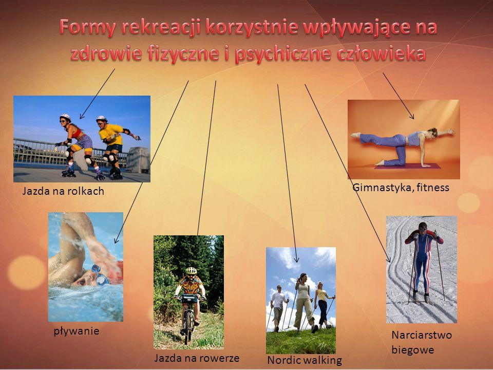 pływanie Gimnastyka, fitness Nordic walking Jazda na rolkach Narciarstwo biegowe Jazda na rowerze