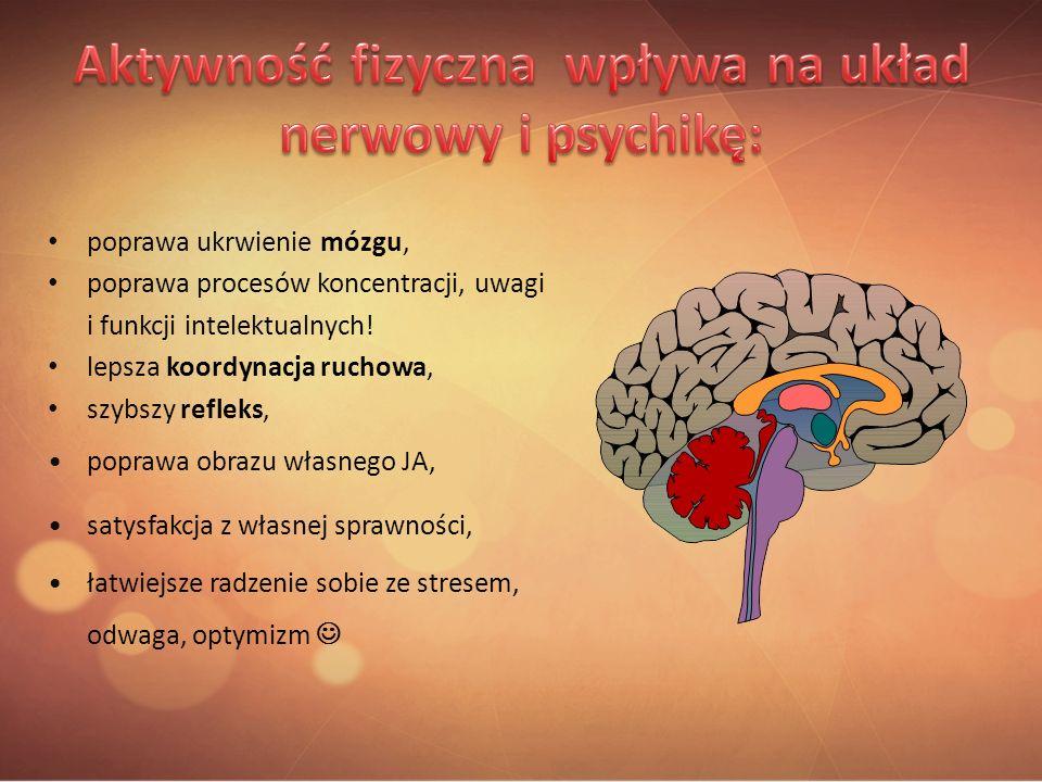 poprawa ukrwienie mózgu, poprawa procesów koncentracji, uwagi i funkcji intelektualnych! lepsza koordynacja ruchowa, szybszy refleks, poprawa obrazu w
