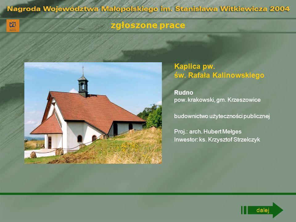 zgłoszone prace Budynek biurowy Sucha Beskidzka pow.
