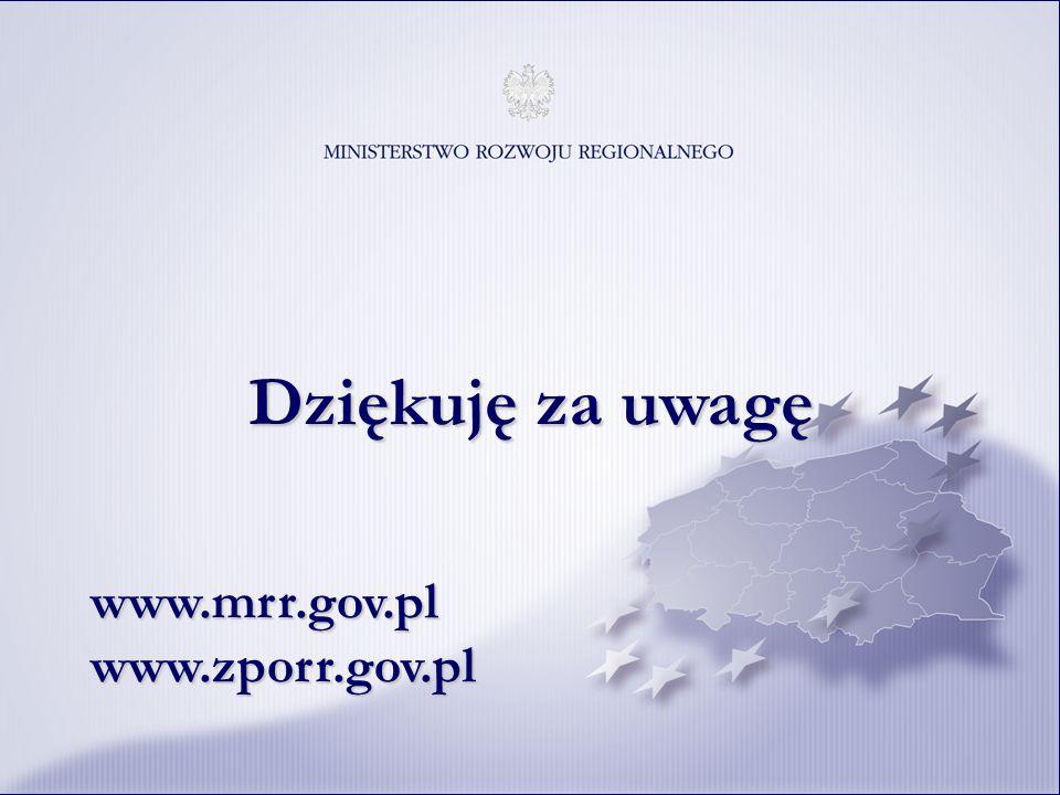 18 Dziękuję za uwagę www.mrr.gov.plwww.zporr.gov.pl