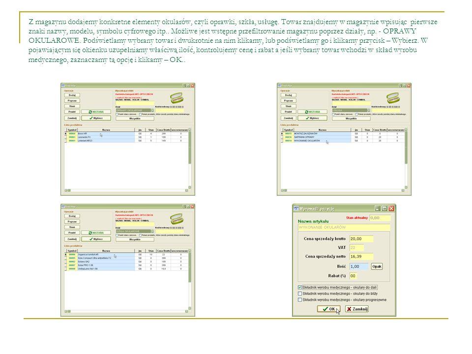 Po dodaniu pozycji do sprzedaży wpisujemy kwotę zaliczki, termin realizacji zlecenia i klikamy – Zapisz.