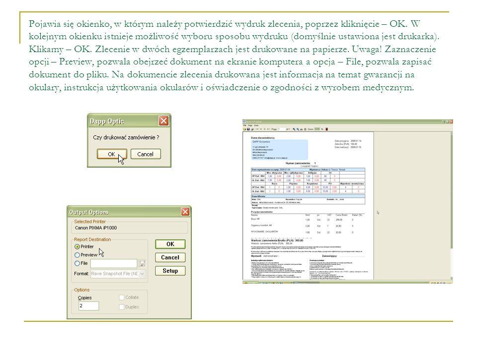 Wszystkie zlecenia widoczne są po kliknięciu ikonki – Zlecenia, na niebieskim pasku w lewej część głównego okna programu.