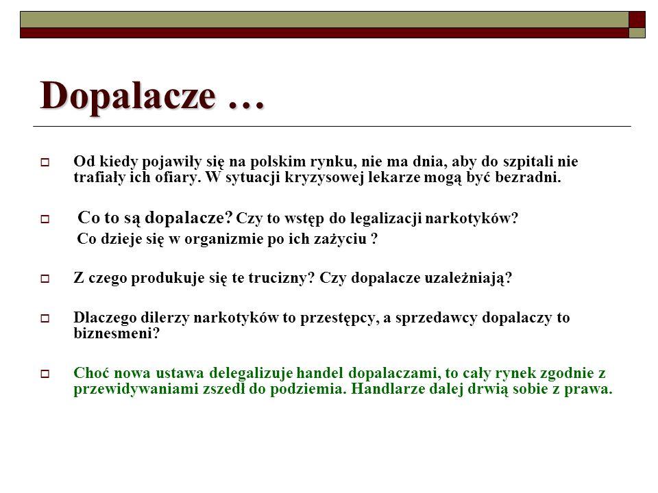 Dopalacze … Od kiedy pojawiły się na polskim rynku, nie ma dnia, aby do szpitali nie trafiały ich ofiary. W sytuacji kryzysowej lekarze mogą być bezra