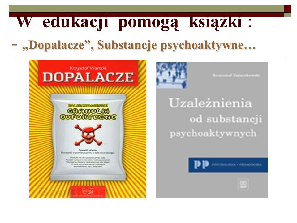 Dopalacze, Substancje psychoaktywne… W edukacji pomogą książki : - Dopalacze, Substancje psychoaktywne…