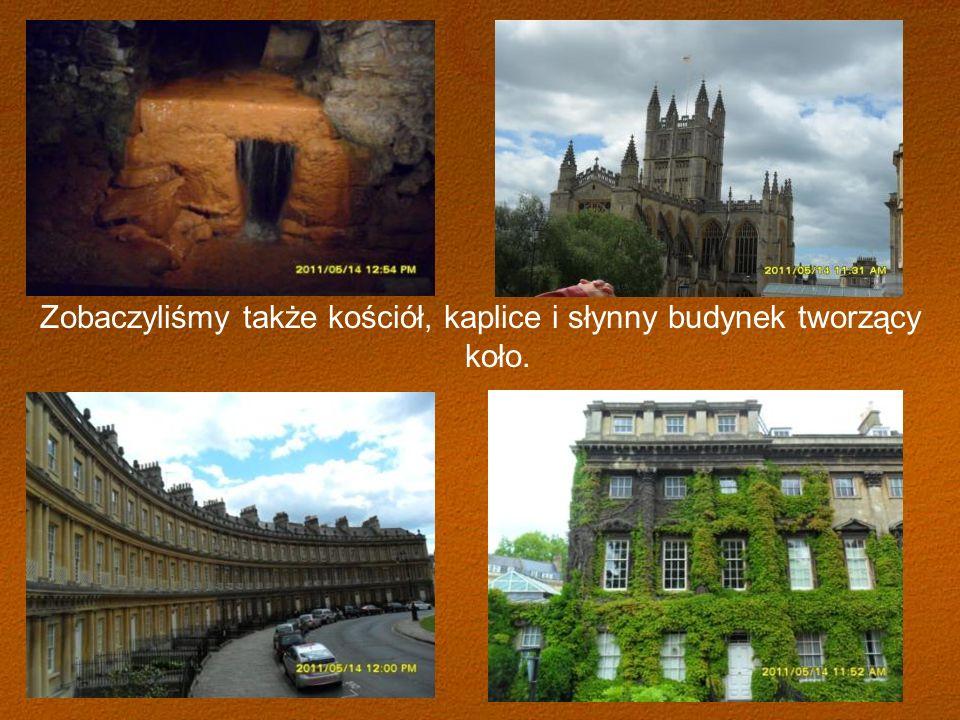 Zobaczyliśmy także kościół, kaplice i słynny budynek tworzący koło.