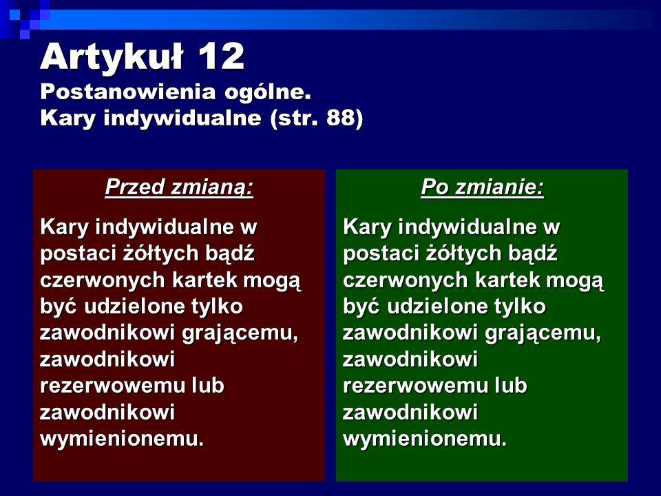 Artykuł 12 Postanowienia ogólne. Kary indywidualne (str.