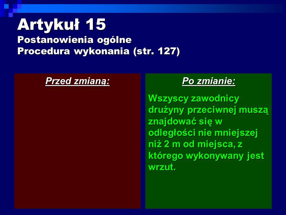 Artykuł 15 Postanowienia ogólne Procedura wykonania (str.