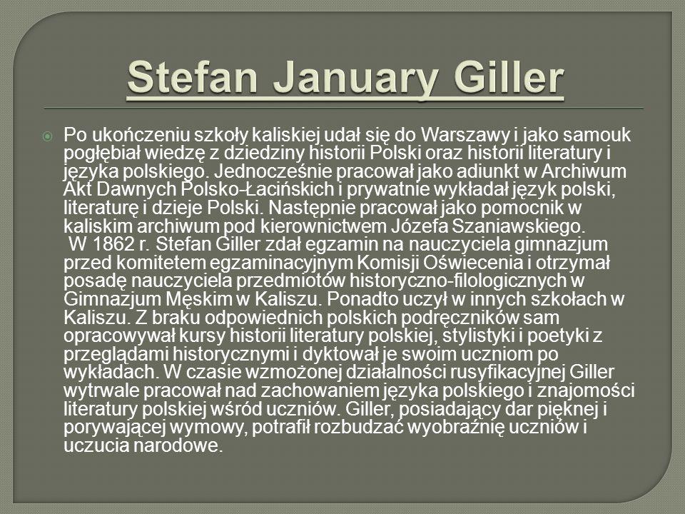 Po ukończeniu szkoły kaliskiej udał się do Warszawy i jako samouk pogłębiał wiedzę z dziedziny historii Polski oraz historii literatury i języka polsk