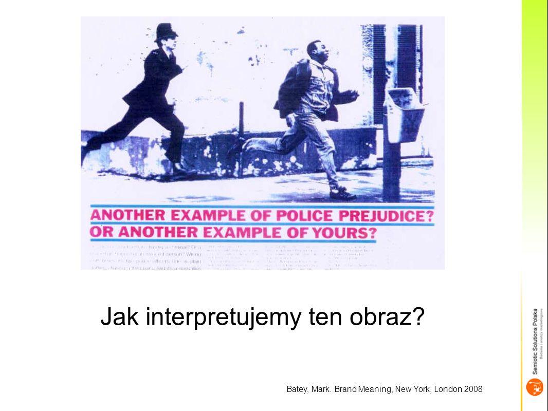 Batey, Mark. Brand Meaning, New York, London 2008 Jak interpretujemy ten obraz?