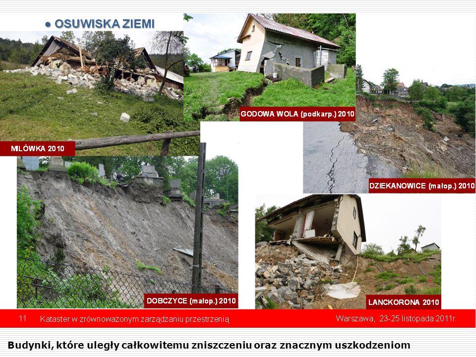 Budynki, które uległy całkowitemu zniszczeniu oraz znacznym uszkodzeniom