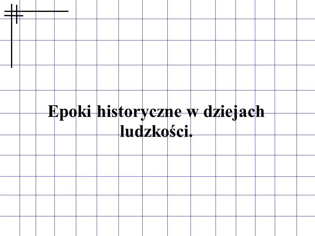 Epoki historyczne w dziejach ludzkości.