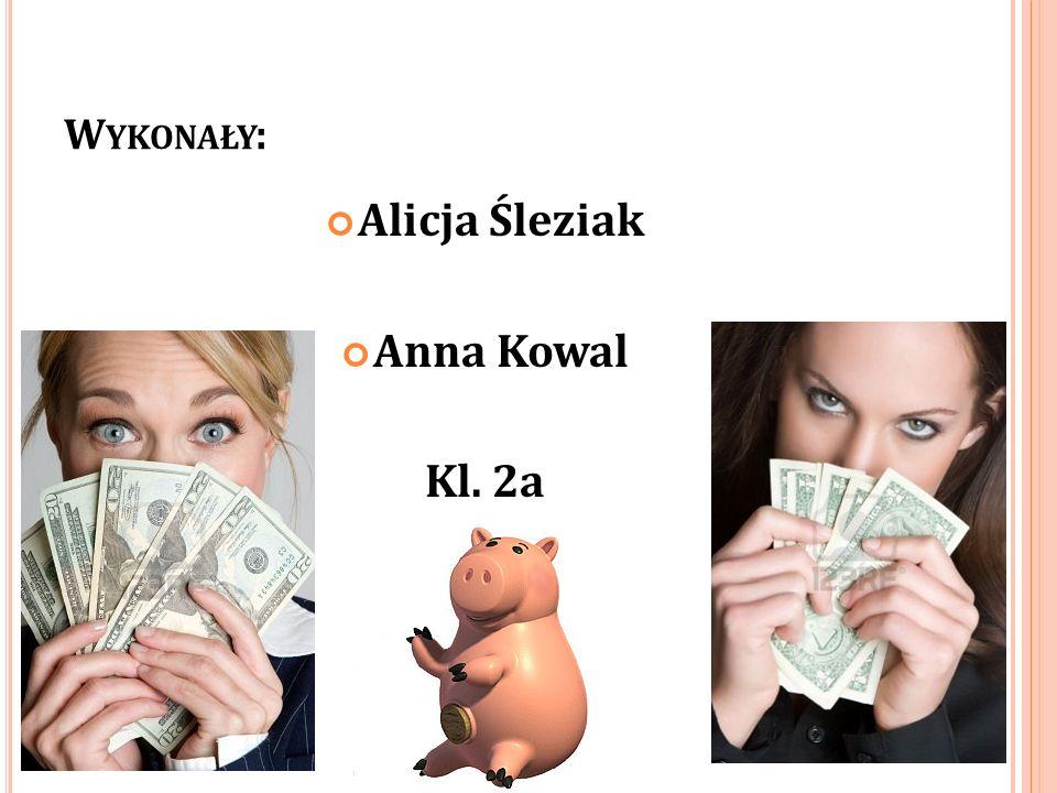 W YKONAŁY : Alicja Śleziak Anna Kowal Kl. 2a