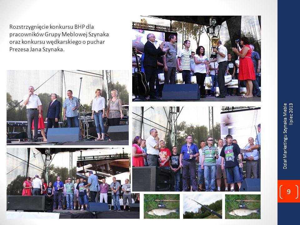 Rozstrzygnięcie konkursu BHP dla pracowników Grupy Meblowej Szynaka oraz konkursu wędkarskiego o puchar Prezesa Jana Szynaka.