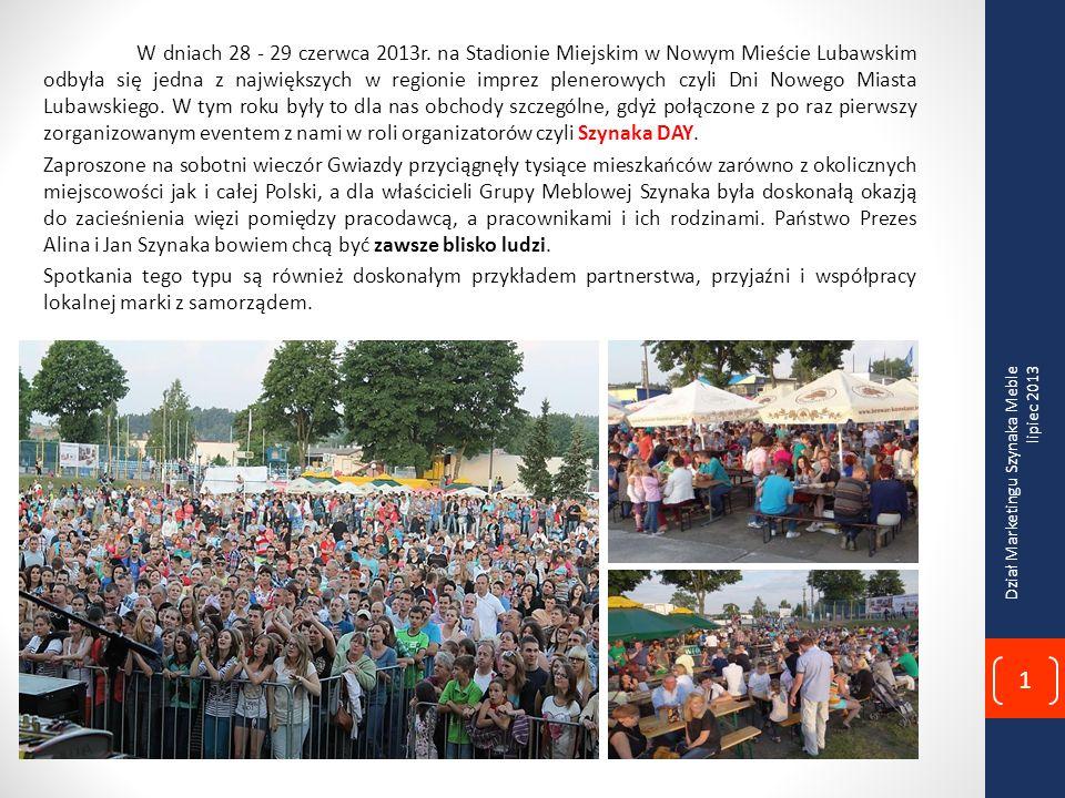 Imprezę rozpoczęto o godzinie 12:00 zwiedzaniem Fabryki Mebli Szynaka w Nowym Mieście Lubawskim, w którym wzięli udział zaproszeni goście jak również licznie przybyli mieszkańcy Nowego Miasta Lubawskiego i okolic.