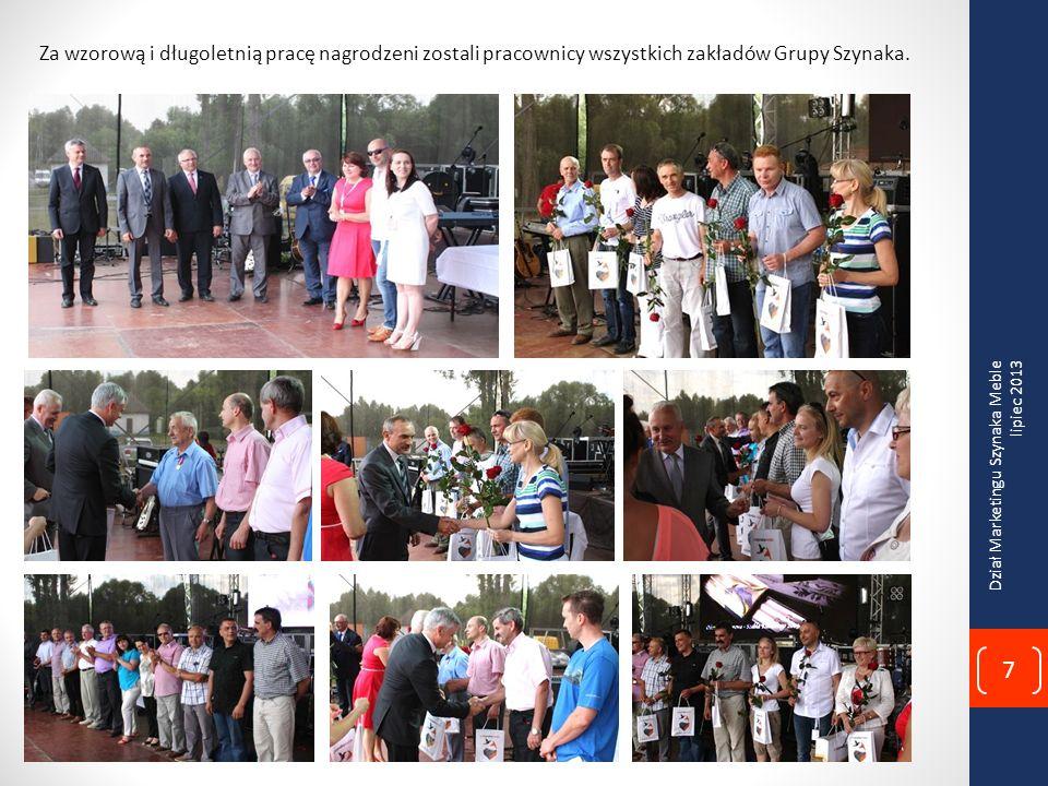 Wiesław Łubiński Kanclerz Loży Business Centre Club wręcza właścicielom Alinie i Janowi Szynaka dyplom z wyróżnieniem Branżowy Lider Zmian, za wdrożoną z sukcesem autorską strategię zmian.