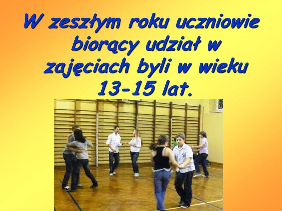 W zeszłym roku uczniowie biorący udział w zajęciach byli w wieku 13-15 lat.