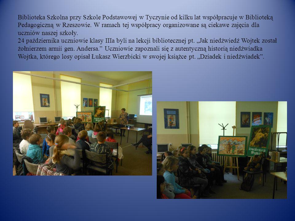Biblioteka Szkolna przy Szkole Podstawowej w Tyczynie od kilku lat współpracuje w Biblioteką Pedagogiczną w Rzeszowie. W ramach tej współpracy organiz