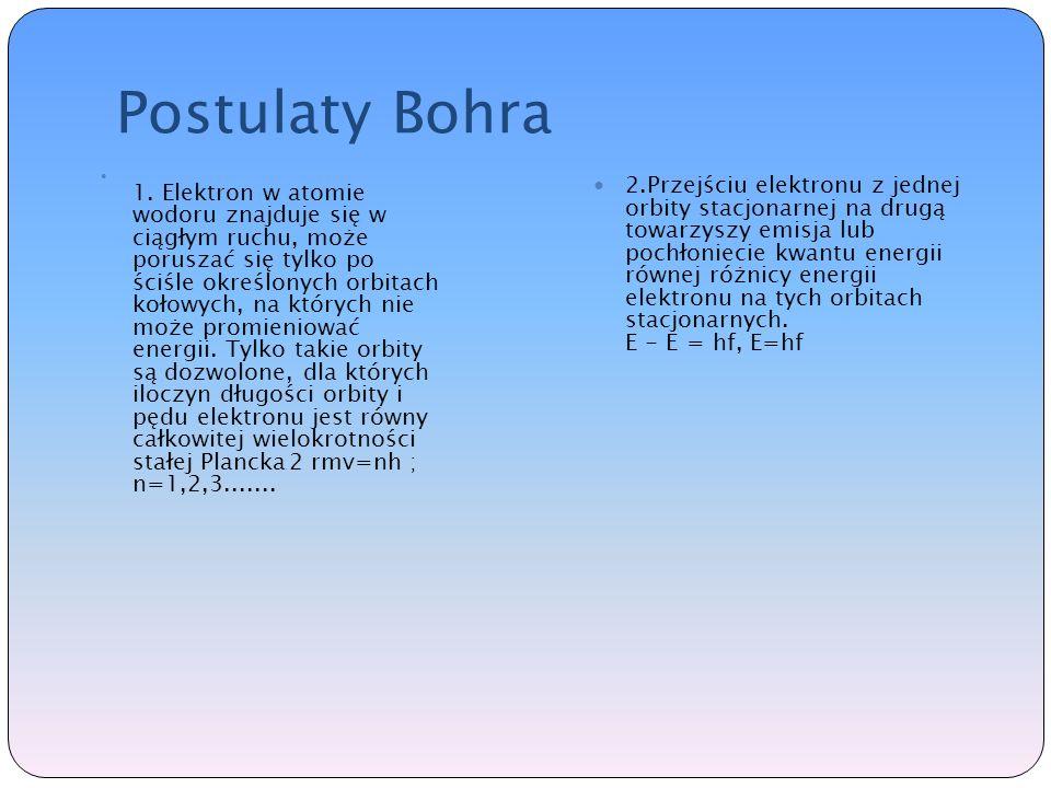 Postulaty Bohra 1.