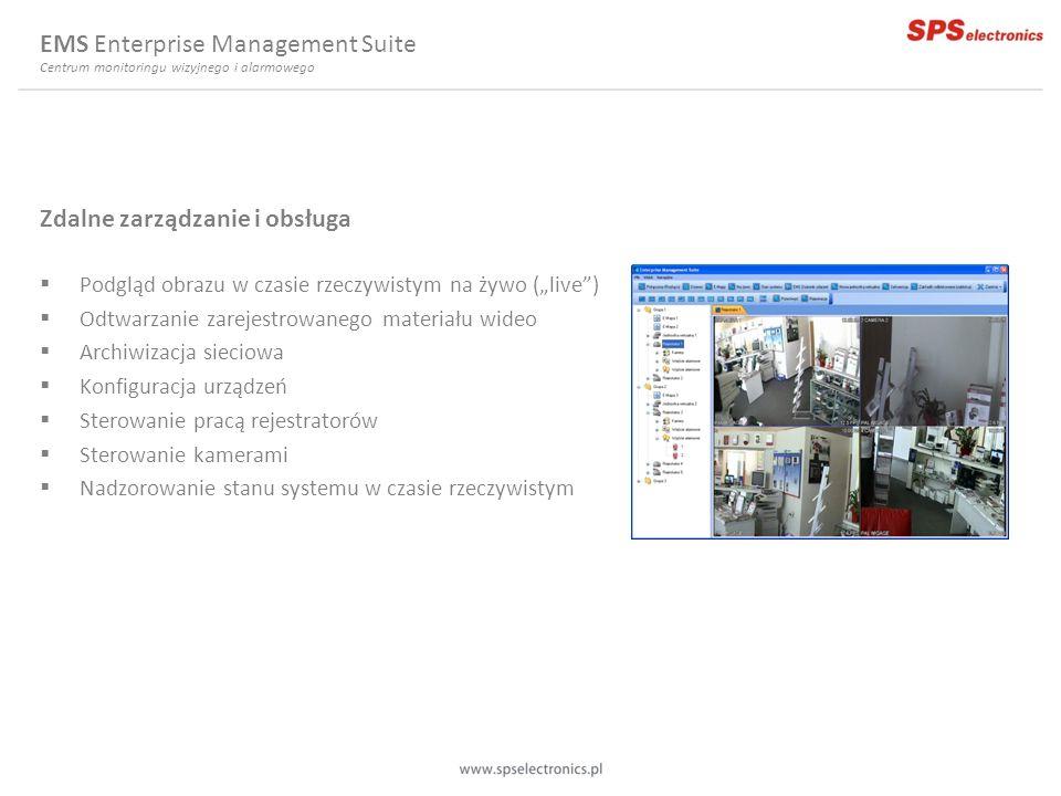 Zdalne zarządzanie i obsługa Podgląd obrazu w czasie rzeczywistym na żywo (live) Odtwarzanie zarejestrowanego materiału wideo Archiwizacja sieciowa Ko