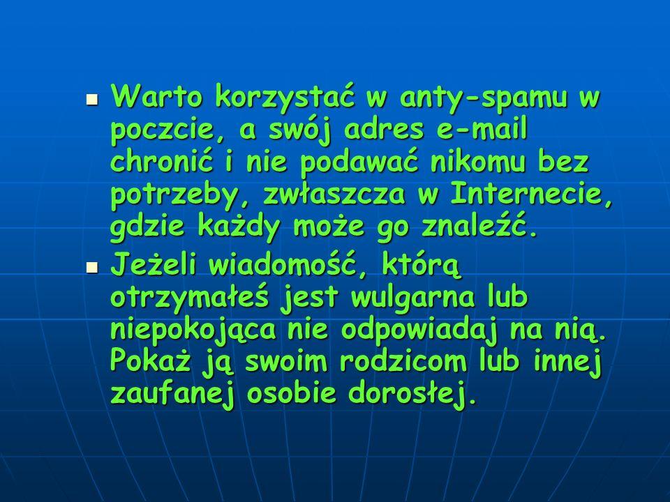 Szukać pomocy u konsultantów Helpline.org.pl – projekt, którego celem jest pomoc dzieciom w sytuacjach zagrożenia w Internecie oraz podczas korzystania z telefonów komórkowych.