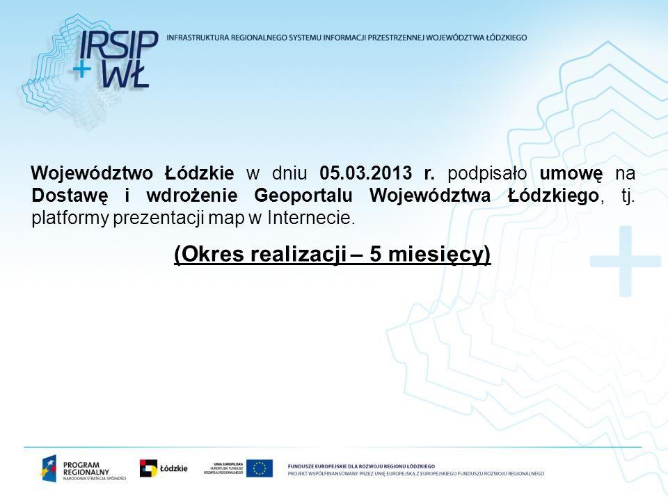 Województwo Łódzkie w dniu 05.03.2013 r. podpisało umowę na Dostawę i wdrożenie Geoportalu Województwa Łódzkiego, tj. platformy prezentacji map w Inte
