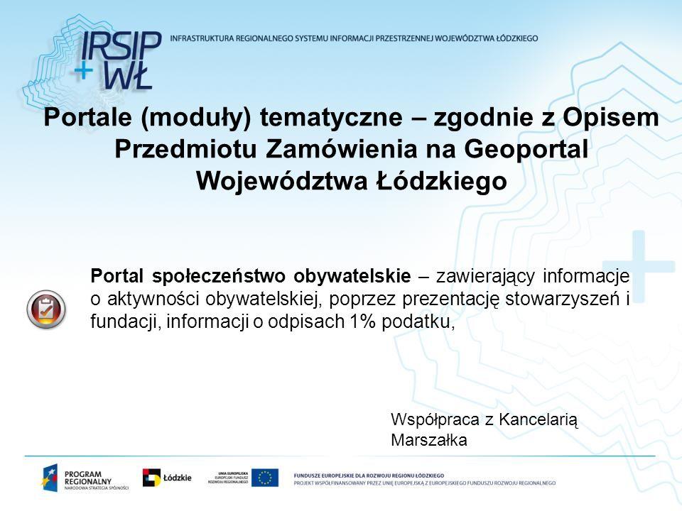Portal społeczeństwo obywatelskie – zawierający informacje o aktywności obywatelskiej, poprzez prezentację stowarzyszeń i fundacji, informacji o odpis