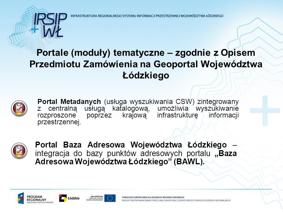 Portal Baza Adresowa Województwa Łódzkiego – integracja do bazy punktów adresowych portalu Baza Adresowa Województwa Łódzkiego (BAWL). Portale (moduły