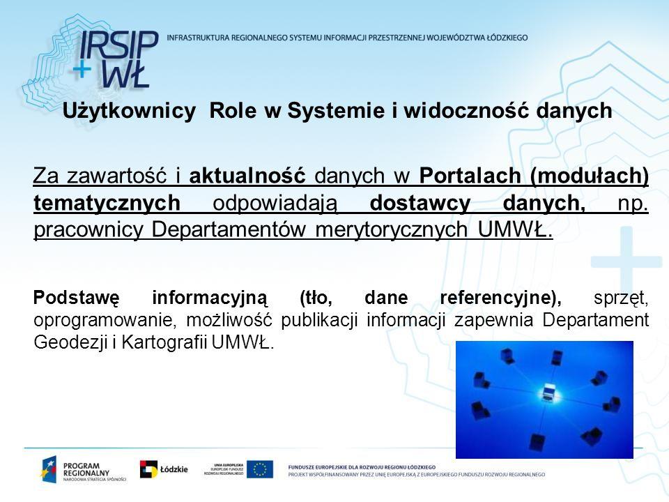 Za zawartość i aktualność danych w Portalach (modułach) tematycznych odpowiadają dostawcy danych, np. pracownicy Departamentów merytorycznych UMWŁ. Po