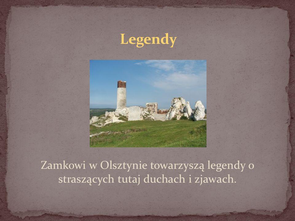 Zamkowi w Olsztynie towarzyszą legendy o straszących tutaj duchach i zjawach.
