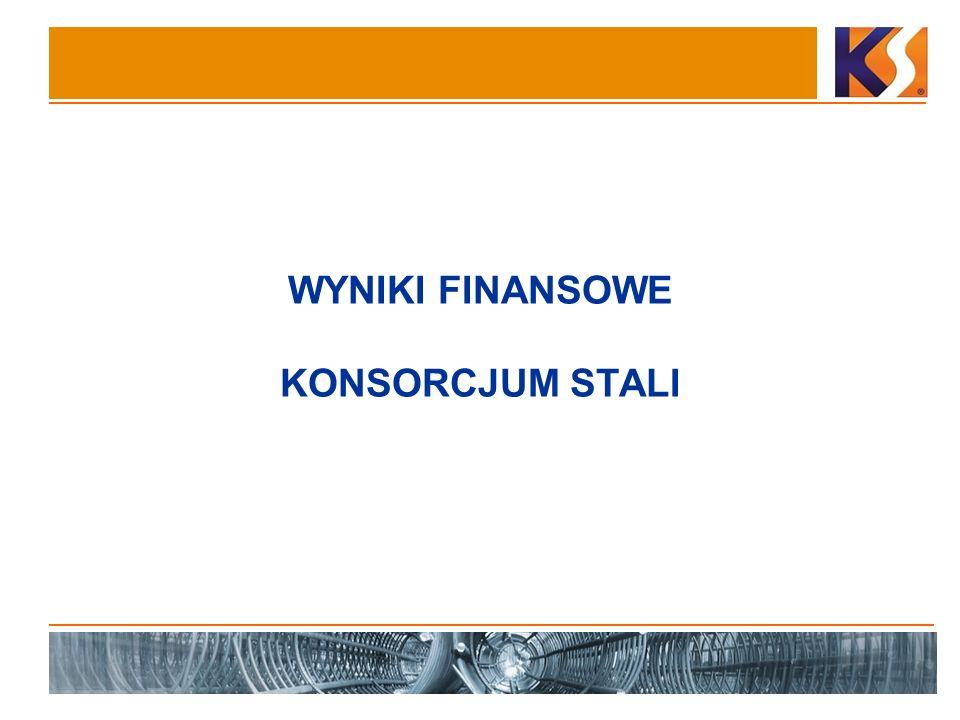 7 Narastająco po czterech kwartałach Konsorcjum Stali miało 757,4 mln zł przychodów ze sprzedaży w ujęciu jednostkowym w porównaniu do 398,7 mln zł w analogicznym okresie 2007 r.