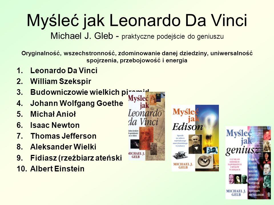 Myśleć jak Leonardo Da Vinci Michael J.
