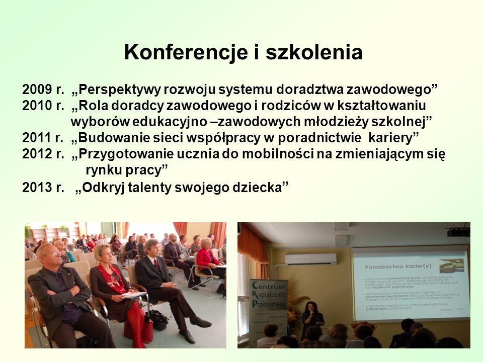 Konferencje i szkolenia 2009 r.Perspektywy rozwoju systemu doradztwa zawodowego 2010 r.