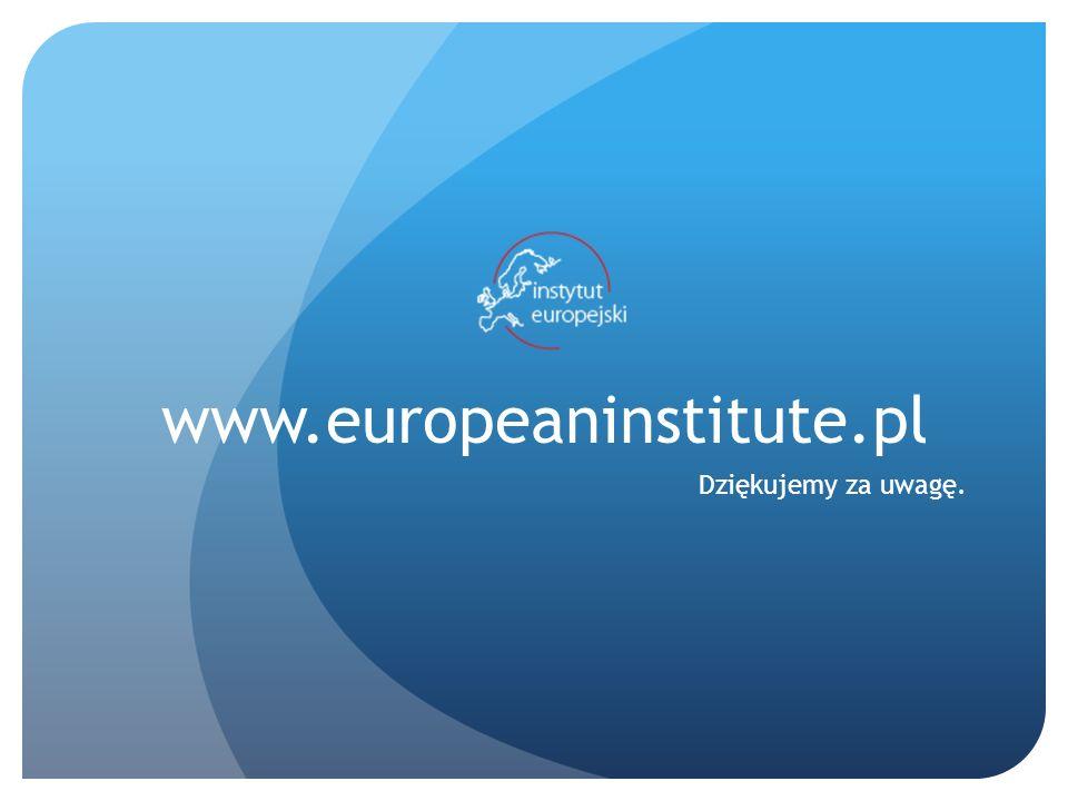 www.europeaninstitute.pl Dziękujemy za uwagę.