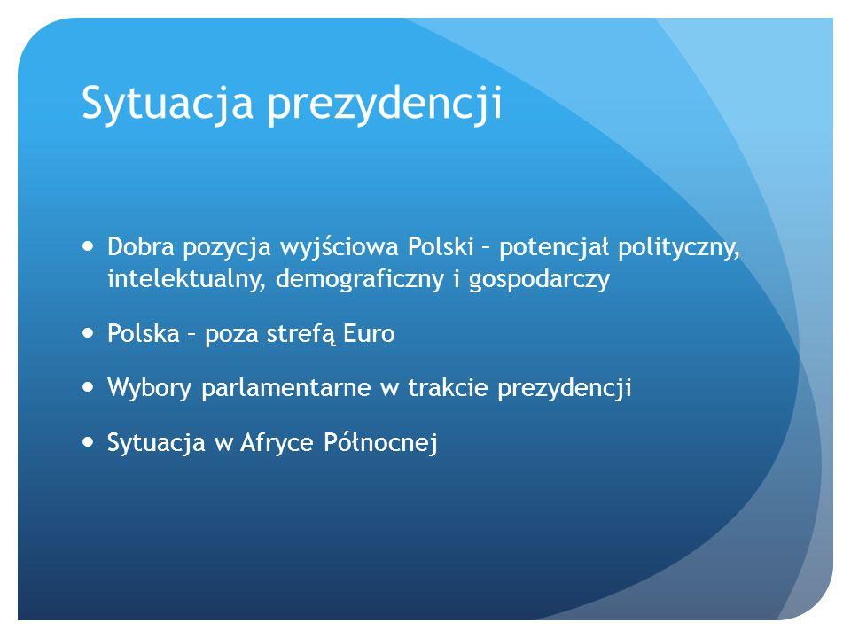 Priorytety 2010 Lipiec 2010, rządowa Wstępna lista priorytetów : Wieloletnie ramy finansowe 2010 – 2014 Stosunki ze Wschodem Rynek wewnętrzny Wzmocnienie zewnętrznej polityki energetycznej UE Wspólna polityka bezpieczeństwa i obrony Pełne wykorzystanie kapitału intelektualnego UE