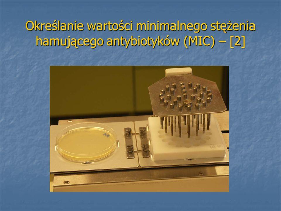 Określanie wartości minimalnego stężenia hamującego antybiotyków (MIC) – [2]