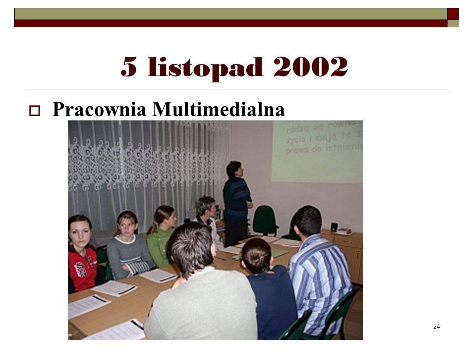 24 5 listopad 2002 Pracownia Multimedialna