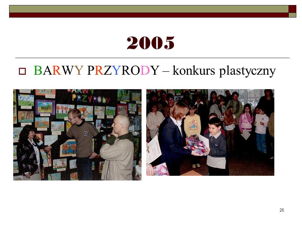 26 2005 BARWY PRZYRODY – konkurs plastyczny