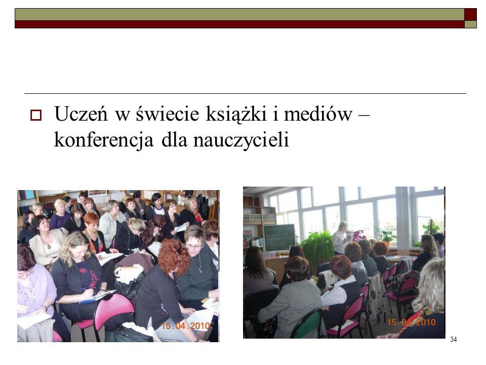 34 Uczeń w świecie książki i mediów – konferencja dla nauczycieli