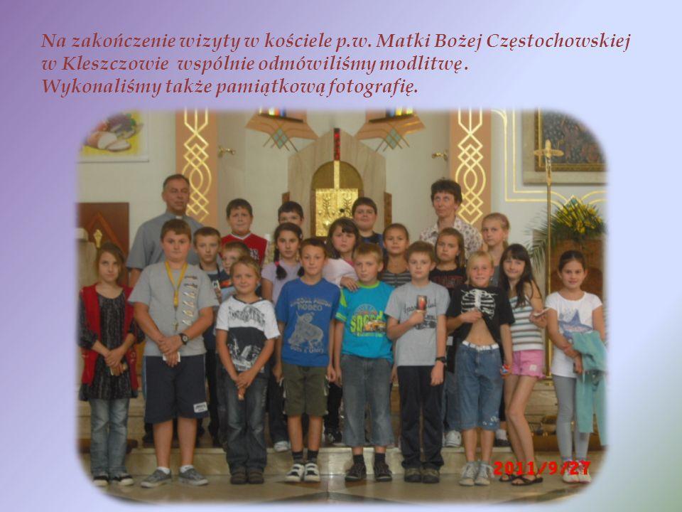 Na zakończenie wizyty w kościele p.w.