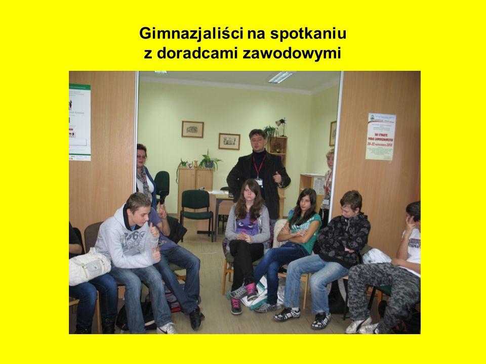 Gimnazjaliści na spotkaniu z doradcami zawodowymi