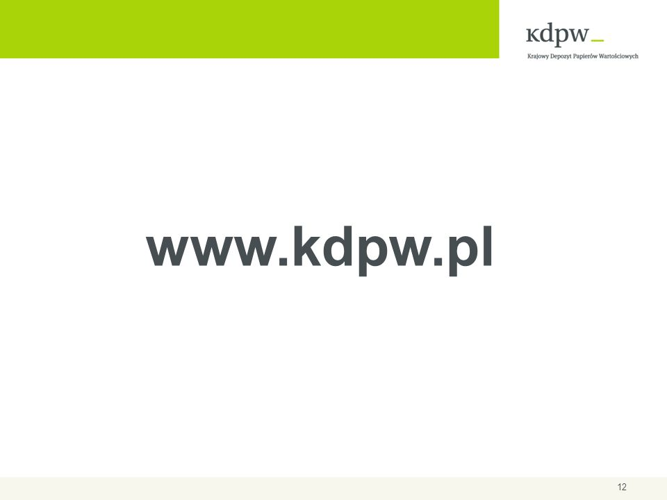 12 www.kdpw.pl