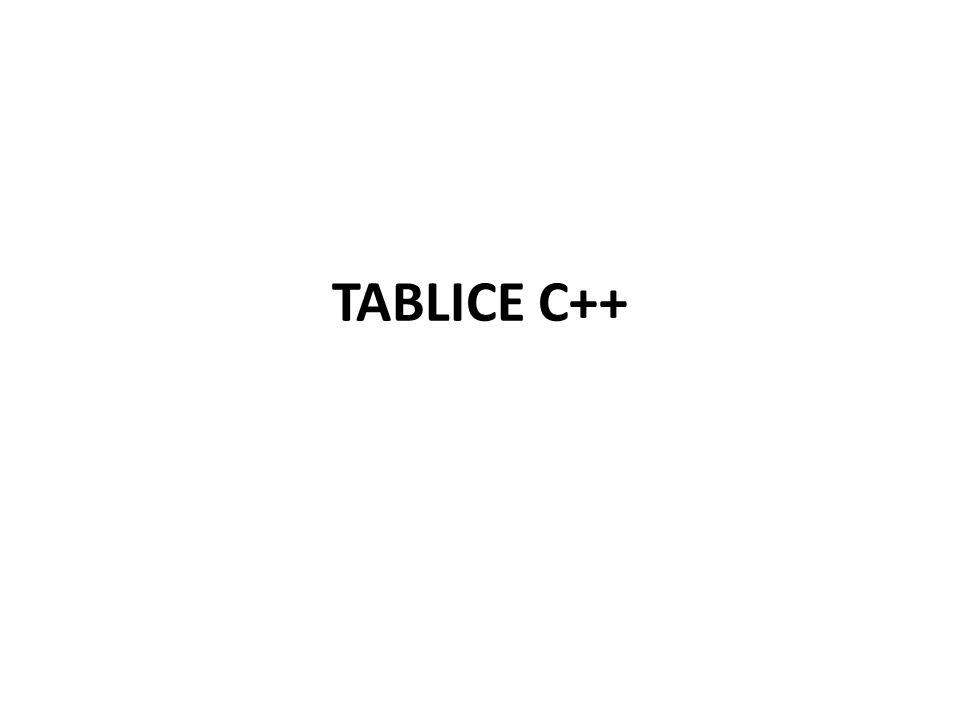 TABLICE C++
