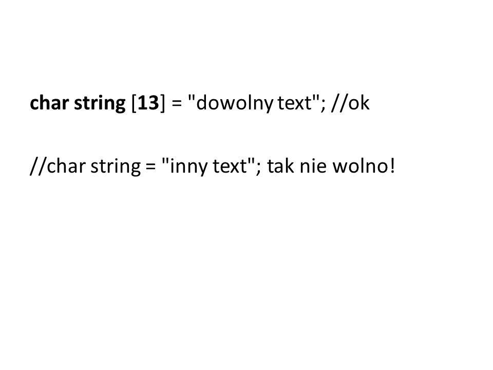 char string [13] =