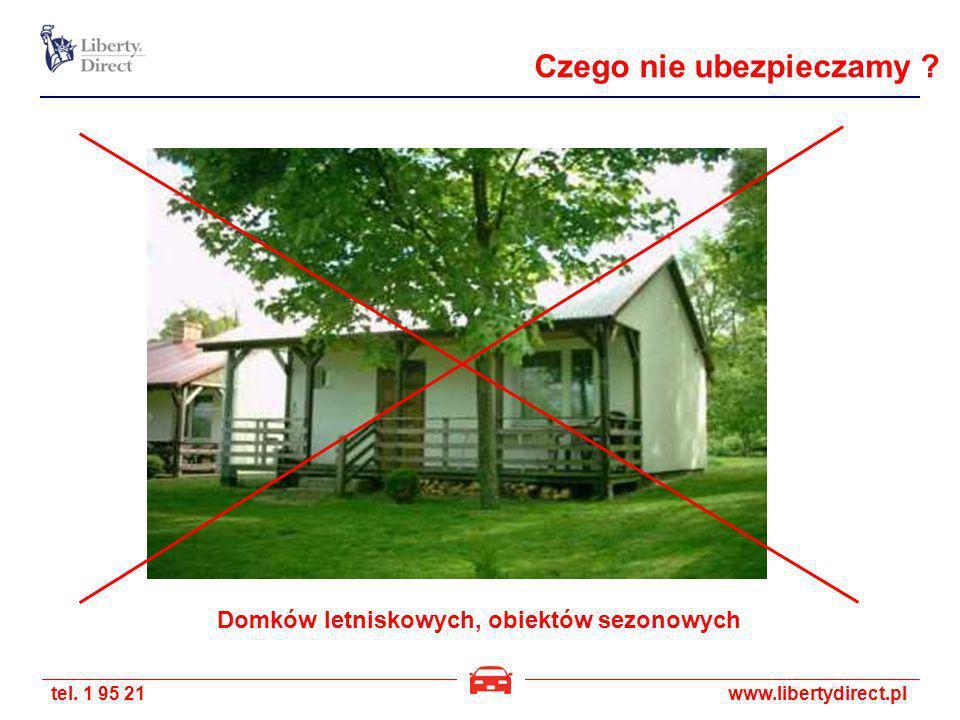 tel. 1 95 21www.libertydirect.pl Domków letniskowych, obiektów sezonowych Czego nie ubezpieczamy ?
