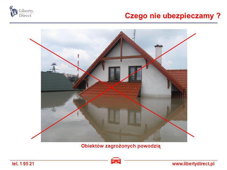 tel. 1 95 21www.libertydirect.pl Obiektów zagrożonych powodzią Czego nie ubezpieczamy ?