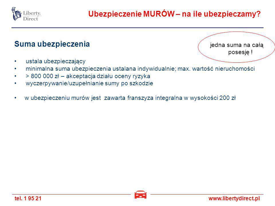 tel. 1 95 21www.libertydirect.pl Ubezpieczenie MURÓW – na ile ubezpieczamy? Suma ubezpieczenia ustala ubezpieczający minimalna suma ubezpieczenia usta