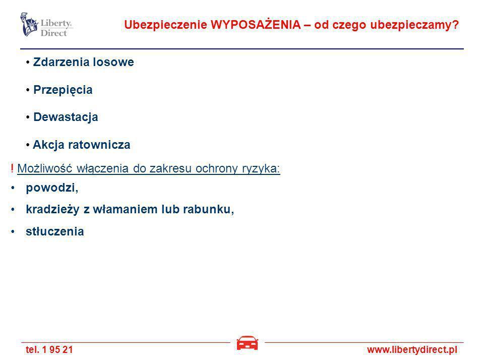 tel.1 95 21www.libertydirect.pl Ubezpieczenie WYPOSAŻENIA – od czego ubezpieczamy.