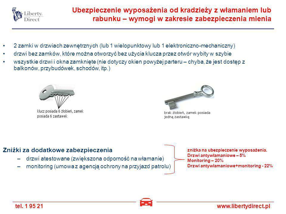tel. 1 95 21www.libertydirect.pl Ubezpieczenie wyposażenia od kradzieży z włamaniem lub rabunku – wymogi w zakresie zabezpieczenia mienia 2 zamki w dr
