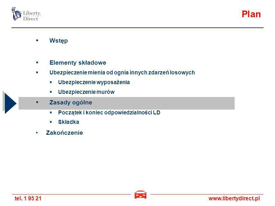 tel. 1 95 21www.libertydirect.pl Plan Wstęp Elementy składowe Ubezpieczenie mienia od ognia innych zdarzeń losowych Ubezpieczenie wyposażenia Ubezpiec